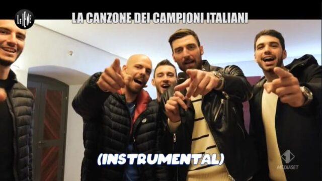 Le Iene canzone dei campioni italiani